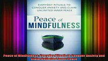 Read  Peace of Mindfulness Everyday Rituals to Conquer Anxiety and Claim Unlimited Inner Peace  Full EBook