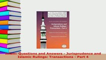 PDF Islam Questions and Answers Jurisprudence and Islamic