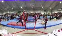 CATCH! Gymnastics coach makes spectacular student save