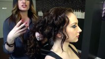 Hair Ideas When Wearing a Strapless Dress for Curly Hair : Hair Styling for Men & Women
