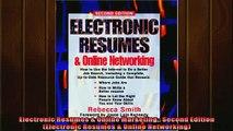 EBOOK ONLINE  Electronic Resumes  Online Marketing Second Edition Electronic Resumes  Online  DOWNLOAD ONLINE