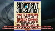 Free PDF Downlaod  The Subversive Job Search How to Overcome a Lousy Job Sluggish Economy and Useless Degree  BOOK ONLINE