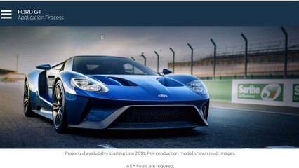 Ford GT Buying Process - Order Submitted
