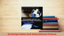 Download  Exchange Rates And International Finance Free Books