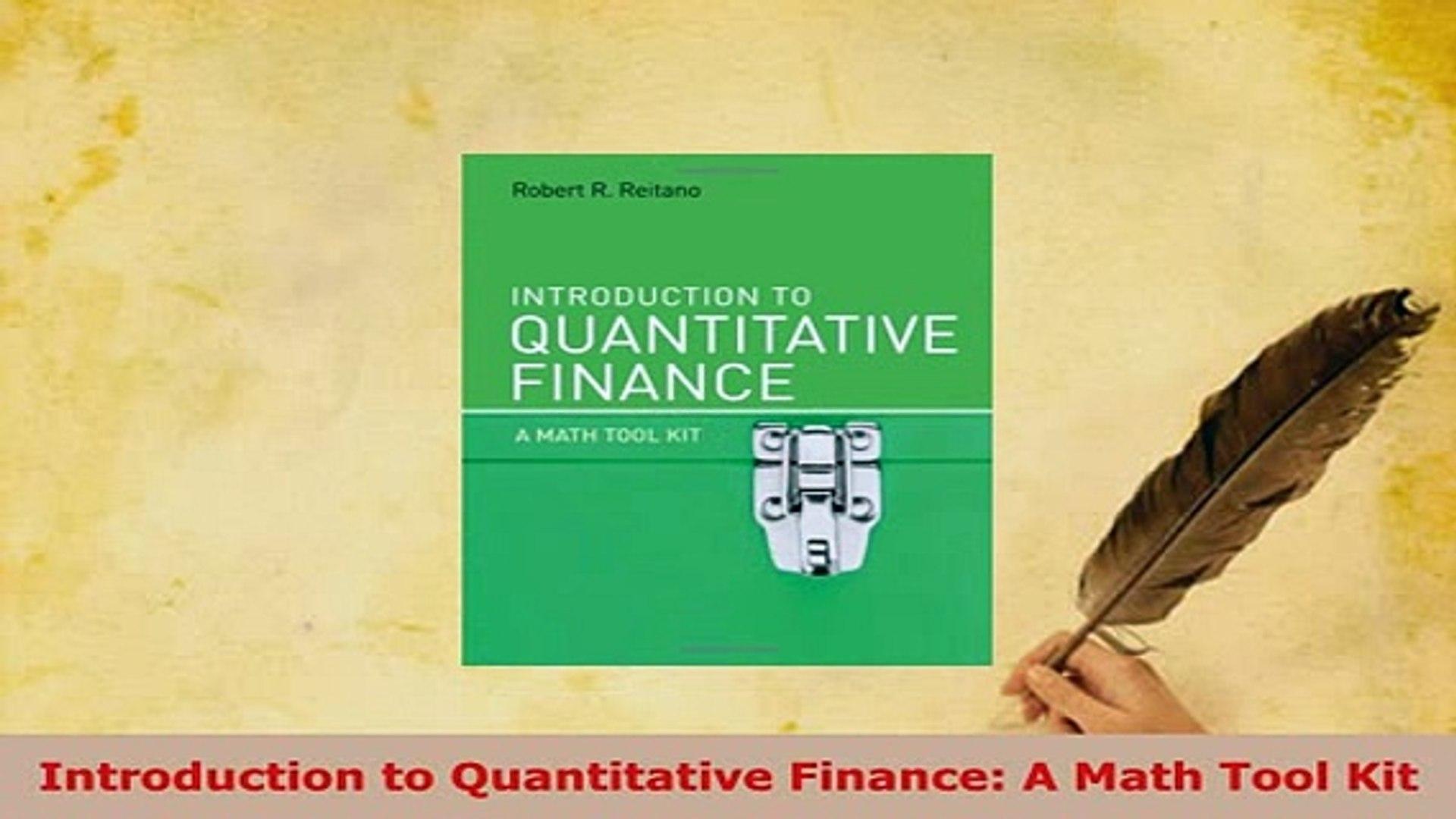 PDF Introduction to Quantitative Finance A Math Tool Kit Ebook