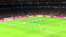 Arsenal vs Barca scene from Emirates Stadium- Arsenal chance
