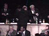 Sepp Blatter falling off a stage