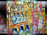 abstract art paintings Abstract Cities by Daniel C. Chiriac fine art