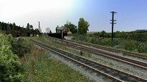 Trains passing at Tarff
