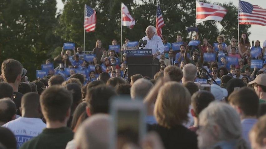 Sanders se reúne con sus seguidores antes de la últimas primarias