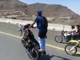 Amazing Motor Bike Wheeling with out tyre - Amazing Bike Wheeling Stunt