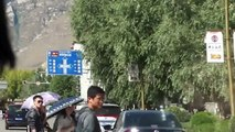 Potala palace in Lhasa, passing by in a car 2012-09-22