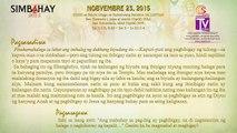 Simbahay | Nobyembre  23, 2015 | Lunes sa Ika-34 na Linggo ng Karaniwang Panahon