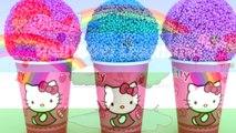 Hello Kitty Foam Clay KINDER Surprise Eggs Ice Cream Cups Minions Disney Princess RainbowLearning