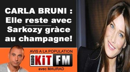 CARLA BRUNI : POUR RESTER AVEC SARKOZY...ELLE BOIT!