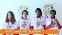 Ile de France Ouest, vainqueur épée dames par équipe #fdjescrime 2016