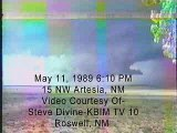 Large Wall Cloud-Funnel Clouds 15 NW Artesia, NM May 11, 1989