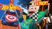Hot Wheels Saut en longueur Saut défi ft Marvel Superheroes Hot Wheels Voitures