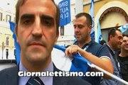 POLIZIA IN PIAZZA 23 OTTOBRE 2012 PARLA SEGRETARIO PROVINCIALE AGG. SAP ROMA FRANCESCO PAOLO RUSSO
