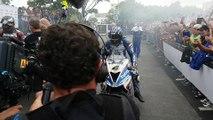 Senior TT : L'arrivée enfumée des héros du Tourist Trophy