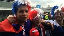 """Ambiance au Stade de France: """"On voit une finale France-Belgique"""""""