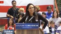 Rosario Dawson Introduces Bernie Sanders East Los Angeles Rally (5 23 16)