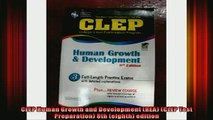 READ book  CLEP Human Growth and Development REA CLEP Test Preparation 8th eighth edition Full EBook