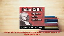 PDF  John Gills Exposition on the Entire BibleBook of Deuteronomy Free Books