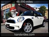 2011 MINI S Pkg~Clean Carfax Pepper white and Black Top~Carbon Black~ S Used Cars - San Diego,Califo