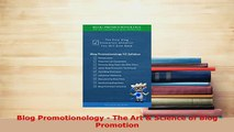 PDF  Blog Promotionology  The Art  Science of Blog Promotion Free Books