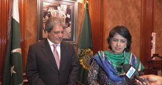 Joint Statement by Dr. Bibi Ameenah Firdaus The President of Mauritius and Governor Sindh Dr Ishrat Ul Ebad Khan