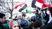 Manif des algériens à Montréal le 12 fév # 2