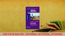 PDF  IGN PAYS BALTES  ESTONIE LETTONIE LITUANIE Download Online