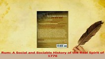 PDF  Rum A Social and Sociable History of the Real Spirit of 1776 Read Online