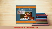 Download  Essentials of Contract Law  EBook