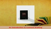 Download  An Introduction to Contract Drafting Free Books