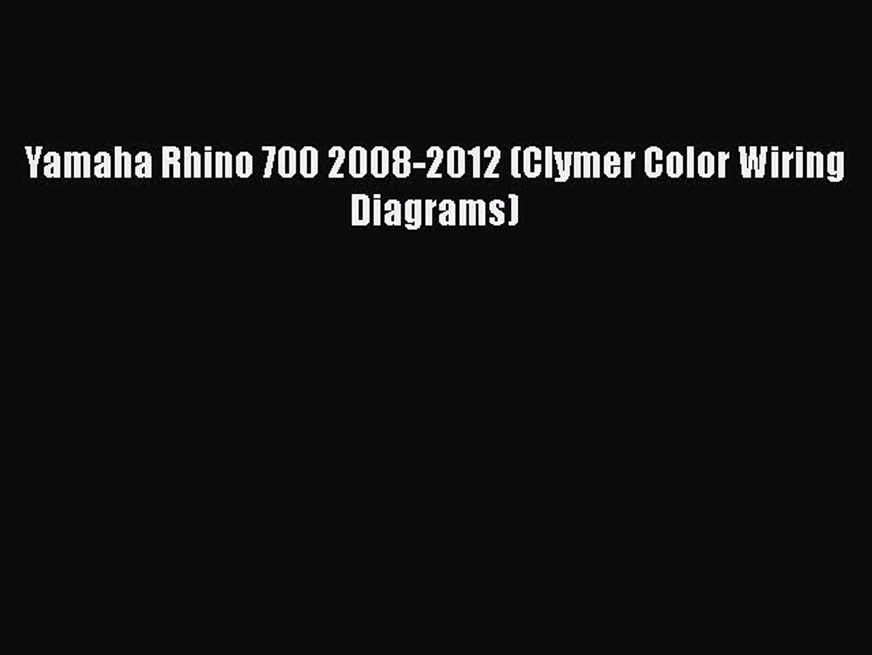 Rhino 700 Wiring Diagram