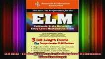 READ FREE FULL EBOOK DOWNLOAD  ELM REA  The Best Test Prep for the Entry Level Mathematics Exam Test Preps Full EBook