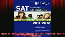 READ book  Kaplan SAT Subject Test Literature 20112012 Kaplan SAT Subject Tests Literature Full Free