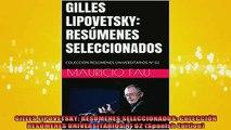 DOWNLOAD FREE Ebooks  GILLES LIPOVETSKY RESÚMENES SELECCIONADOS COLECCIÓN RESÚMENES UNIVERSITARIOS Nº 62 Full EBook