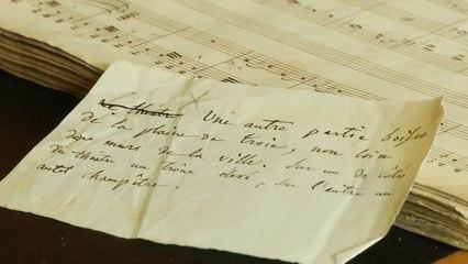 """Trésor national : le manuscrit """"Les Troyens"""" (partition pour piano et chant) d'Hector Berlioz"""