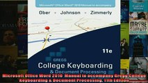 Free PDF Downlaod  Microsoft Office Word 2010  Manual to accompany Gregg College Keyboarding  Document  DOWNLOAD ONLINE