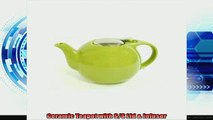 special produk Creative Home 48 oz Ceramic Teapot with SS Lid  Infuser  Green