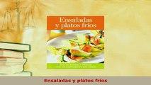 PDF  Ensaladas y platos fríos Download Full Ebook