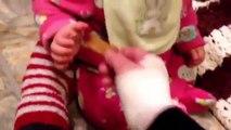 【犬と赤ちゃん】ワンコたちの激しいスキンシップ♪