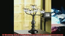 special produk 10 Wedding Black Candelabra Tall Candle Holder Centerpieces