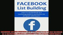 READ book  FACEBOOK LISTING BUILDING 2 in 1 bundle Learn to use facebook as a marketing platform Full Free