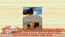 PDF  Raising Beef Cattle 20 Useful Tips On How To Start A Cattle Farm And  Make Money Raising Download Online