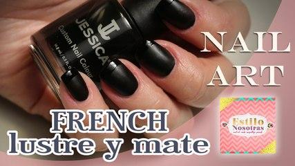 Uñas french (lustre y mate), Nail Art by Luli Gugli | ESTILO NOSOTRAS