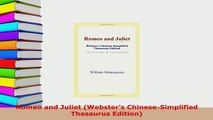 Download  Romeo and Juliet Websters ChineseSimplified Thesaurus Edition  Read Online